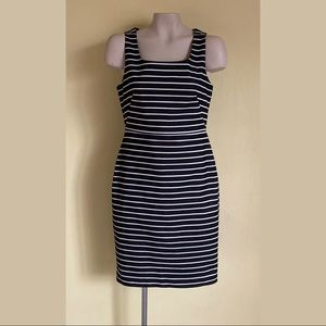 The Limited Black/White Striped Dress